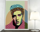 Elvis Presley Poster, Rock n Roll Art Decor,  Elvis Presley Gift, Elvis Print, Super Star Pop Art Poster, Elvis Art, Giclee Print