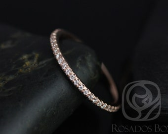 Rosados Box 14kt Rose Gold Matching Band to Kimberly/Catalina Almost Eternity Diamond Band