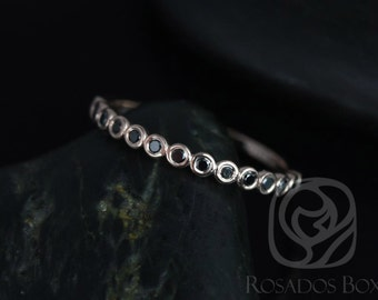 Petite Bubbles 14kt Rose Gold Bezel Black Diamond HALFWAY Eternity Band (Available in Diamonds and Other Metals)