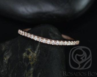 Rosados Box 14kt Matching Band to Giselle Diamonds Halfway Eternity Band