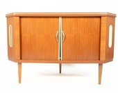 German Mid Century Modern Rotating Corner Bar