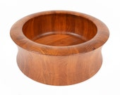 Large Danish Mid Century Modern Digsmed Solid Teak Bowl