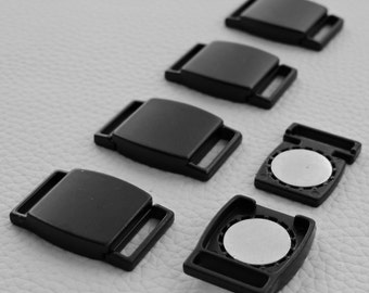 Black Magnetic Clasp 12mm - 5 Pack #115-12905