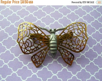 SALE Butterfly Brooch - Lacey Brooch - Bug Brooch - Insect Brooch - Butterfly Pin - Vintage Brooch