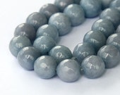 Faceted Jade Beads, Mouse Gray, 10mm Round - 15 inch strand - eJFR-G29-10