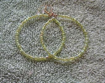 Hippie Hoops -Chartreuse/Green