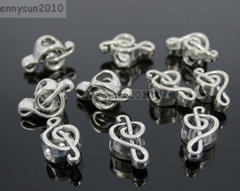 Musical Note Tibetan Silver Big Hole Connector Metal Spacer European Charm Beads Jewelry Design Findings Crafts #1