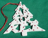 Nantucket, handcrafted tree shaped ornament