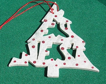 Key West, handcrafted tree shaped ornament