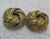 Vintage 15MM Brass Unique Large Heavy Love Knot Bead Spacer