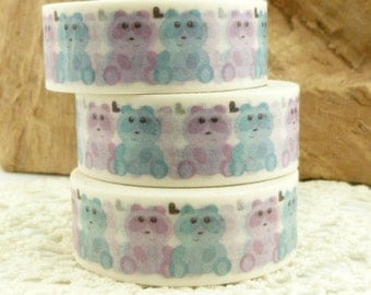 Blue and Pink Teddy Bear Washi Tape - II1713
