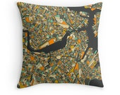 BOSTON MAP, Throw pillow for your modern home decor