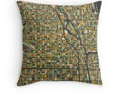 CHICAGO MAP, Throw pillow for your modern home decor