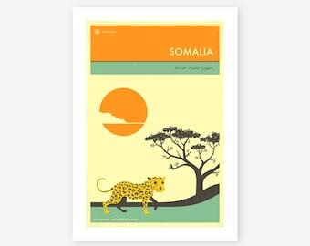 VISIT SOMALIA, African Travel poster, Retro Wall art for the Home Decor, Giclee Fine Art Print