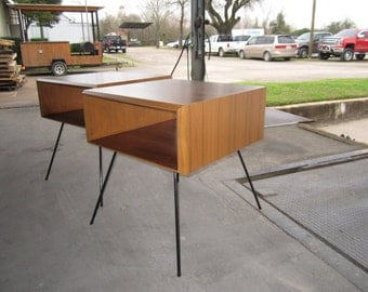 Danish Modern Style Nightstands or End Tables