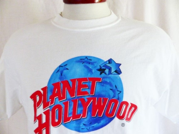 Items similar to vintage 80 39 s 90 39 s planet hollywood for Planet hollywood t shirt