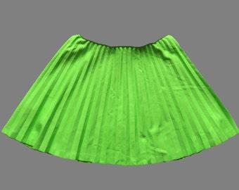 Vintage 60's / 70's Pleated Mini Skirt UK 10