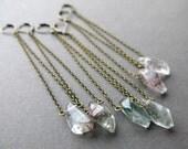 Boho Crystal Earrings - Garden Quartz Jewelry - Quartz Crystal Earrings - Long Crystal Earrings - Quartz Earrings - Crystal Dangle Earrings