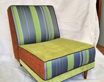 60's mod chair redone funky