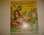 1964 First Edition The Twenty Third Psalm Randy McNally little Book Jesus The Shepard Psalm Childs Book