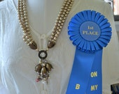 2015 First Place, BCA, Awards,  Business Council for the Arts, Art Show, Handmade Jewelry, Custom Jewelry, Pearls, Tulips, Champagne Beads
