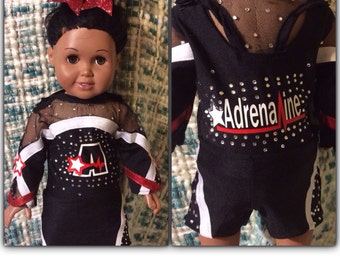 Adrenaline, Twisters, Elite,  CA Replica doll cheer uniforms
