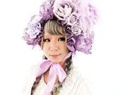 Special Etsy Sale: Lavender or White Floral Bonnet