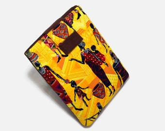 Tablet Case, iPad Mini Cover, African Women, Tribal,  Ethnic,  Kindle Fire 7, Tablet Sleeve, Cozy, Handmade, FOAM Padding, Black History