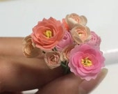 Hademade Miniature Polymer Clay Flower in 1:12 scale