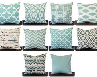 Village blue pillows Etsy