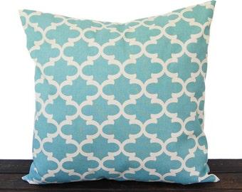 Throw Pillow, Pillow, Cushion, one pillow cover light smokey blue natural scroll Village Blue home decor Fulton