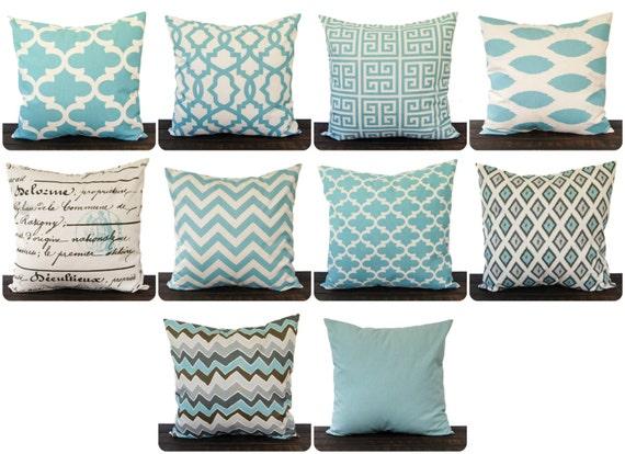 Smokey Blue Throw Pillows : Throw pillow cover cushion cover pillow sham Smokey Blue you