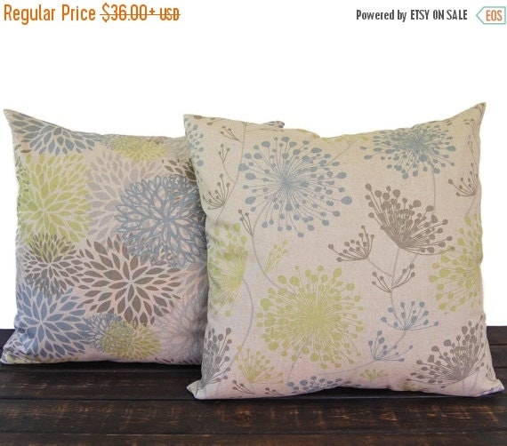 Decorative Pillows For Fall : Items similar to Pillows, Throw Pillow Covers, Cushion, Decorative Pillow, Pair of blue green ...