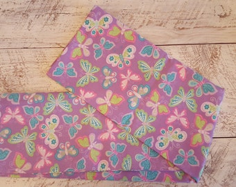 Butterfly Pillowcase / Girl's Bedding - Queen Size