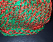 Green and Red Infant Sized Christmas Beanie Hat