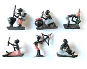 Set of 13 Antique African Tribal Figurines, Hand painted, vintage Metal warriors, Collectible Art, gift idea