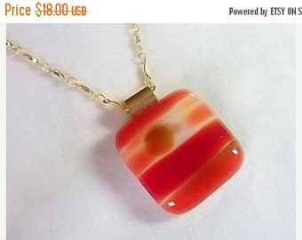 Everything Must Go Harvest Sunset Fused Glass Necklace