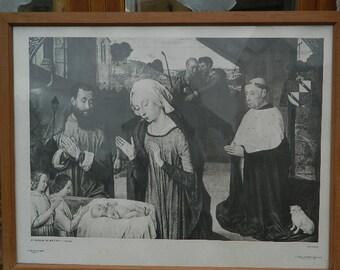"""Poster ou affiche """" La Nativité au Cardinal Jean Rolin """""""