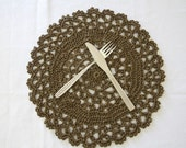 Dinner placemats, Hand lace placemat, Paper rope placemats, Round placemats, Recycling placemats, Home decor, Coasters