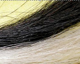 "2oz. Black OR Blond Horse Hair, 9"", Real Horsehair, Doll Hair"