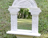 Vintage Mirror Creamy White Recycled Upcycled Shabby Cottage Decor Handmade LittlestSister