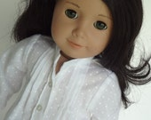 18 Inch Doll Clothes -- White Dotted Shirt -- 1 Piece (5-48)