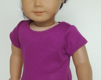 18 Inch Doll Clothes -- Magenta T-Shirt -- 1 Piece (5-55)