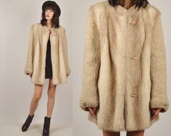70's Faux Fur Winter Coat Vintage