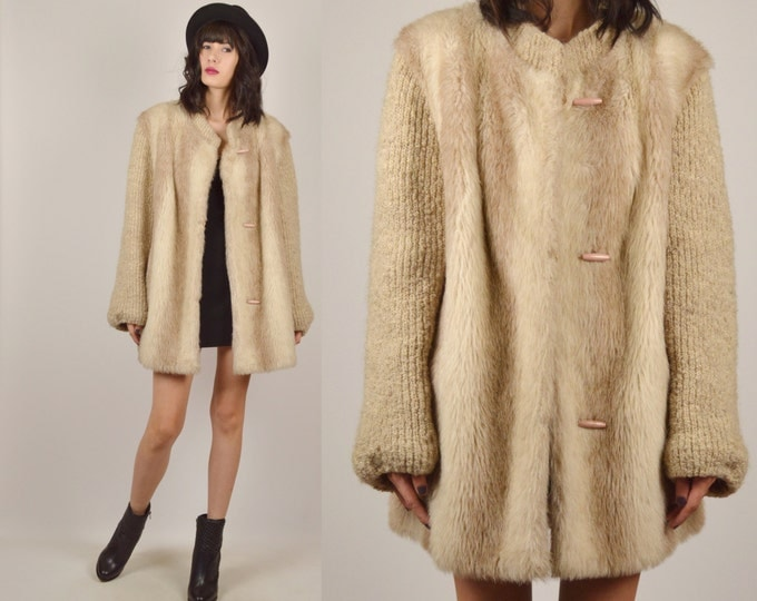 70's Faux Fur Winter Coat Vintage