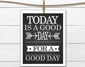 Today is a Good DAY for a Good Day. Instant Download 8x10