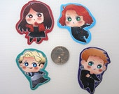 Scarlet Witch, Quicksilver, Hawkeye, & Black Widow Stickers