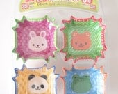 32 PCS Bento Side Dish Cups/Cup liner - Kawaii Animal (Square Type) size 6