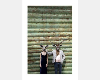 DOE & STAG Fine art A3 photographic poster print