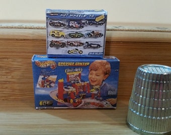T-6        Miniature Boy toy Boxes for Barbie or dollhouse collectors   Boxes do not open